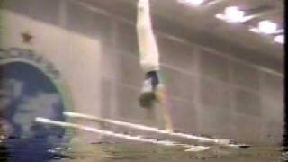 1986 Goodwill Games gymnastics Sven Tippelt parallel bars