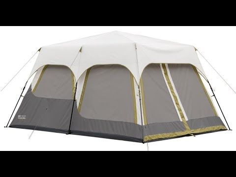 The  Coleman Signature Instant Tent 10 with Rainfly  & The