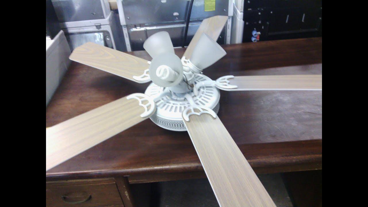 """52"""" White Hampton Bay Landmark III Ceiling Fan"""