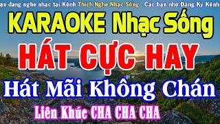 KARAOKE Liên Khúc Nhạc Sống Cha Cha DỄ HÁT NHẤT - Hòa Tấu Cha Cha Cha Hay Nhất #5