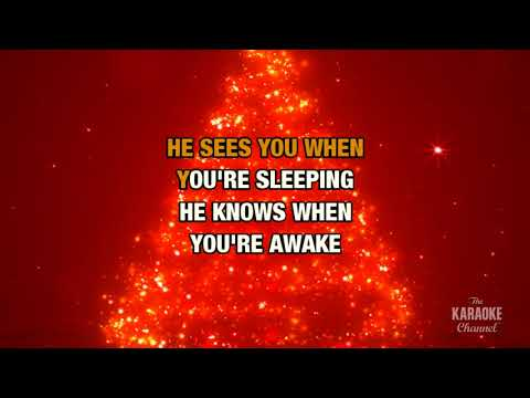 Santa Claus Is Coming To Town in the style of Traditional | Karaoke with Lyrics