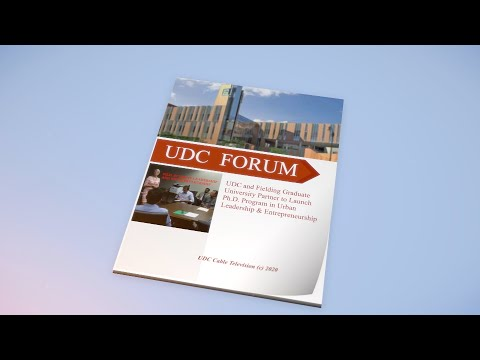 UDC Forum: Urban Leadership And Entrepreneurship