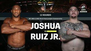 Энди Руис нокаутировал Энтони Джошуа. Бой за титулы чемпиона мира WBA, WBO и IBF в супертяжелом весе