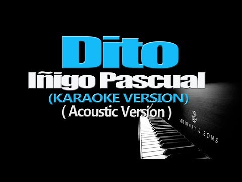 DITO - Iñigo Pascual (KARAOKE VERSION) (Acoustic Version)
