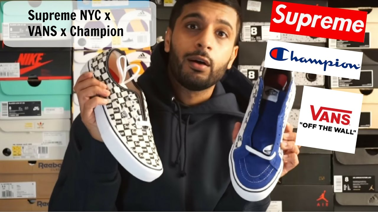 73e7020959e11 Supreme NYC x VANS x CHAMPION SPORTS week 9 pick ups review and fit Episode   7 FW16 New York