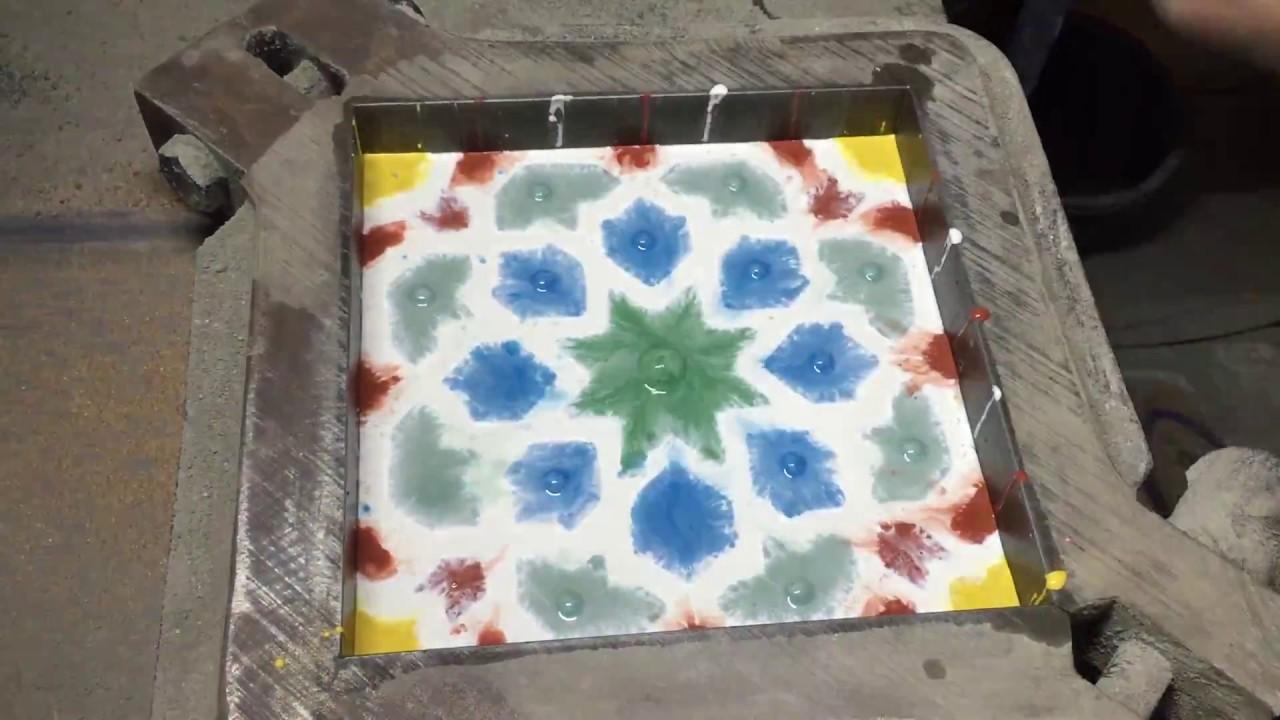 Cement Tile Shop - Handmade Production Process - YouTube