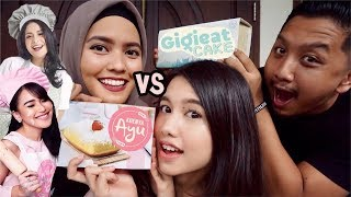 KONTROVERSIAL!! KUENYA AYU VS GIGIEAT CAKE | Review Jujur Kue Artis Ft. BOENGKOES NETWORK
