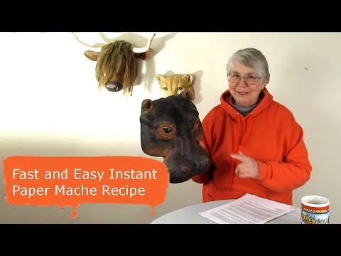 Fast And Eay Instant Paper Mache Recipe -  Diy Instant Paper Mache