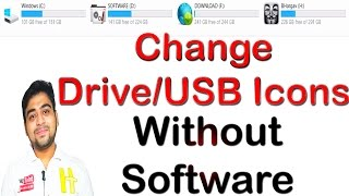How to    Change    Icon    Logo    of    Disk Drive    Pendrive    Set Your Image    Hindi