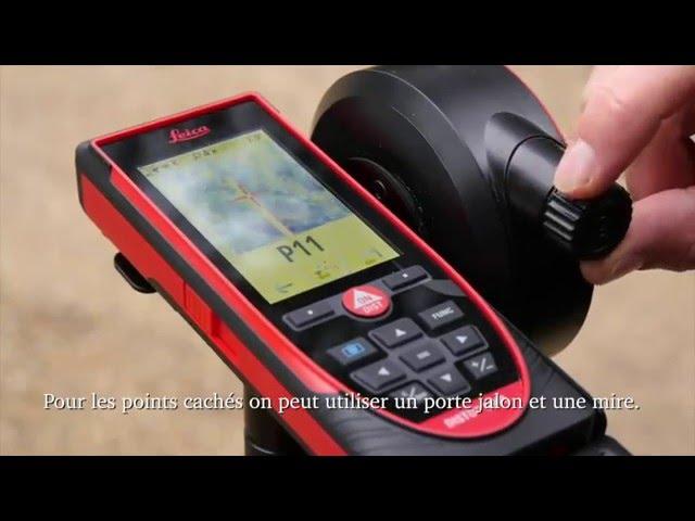 Leica DISTO S910 - Relevé de terrain par laser 3D