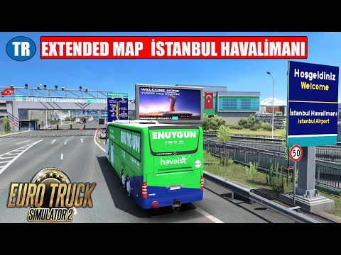 ETS2 TR EXTENDED MAP İSTANBUL HAVALİMANI // MERCEDES TOURISMO  17RHD HAVAİST SKİN ///