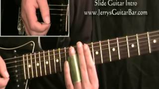 How To Play The Slide Introduction My Sweet Lord George Harrison