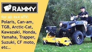 Rammy Flail mower 120 ATV presentation, hammer blades, side shift kit and fitting to ATV