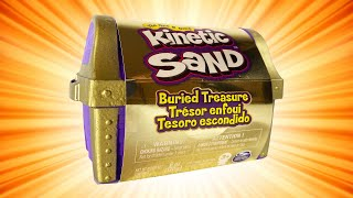 Kinetic Sand Buried Treasure Search for Coins and Tools Mini Treasure Chest - Ways to Play!