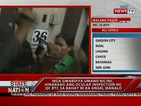 Mga gwardiya umano ng INC, hinarang ang ocular inspection ng QC RTC sa bahay ni ka Angel Manalo