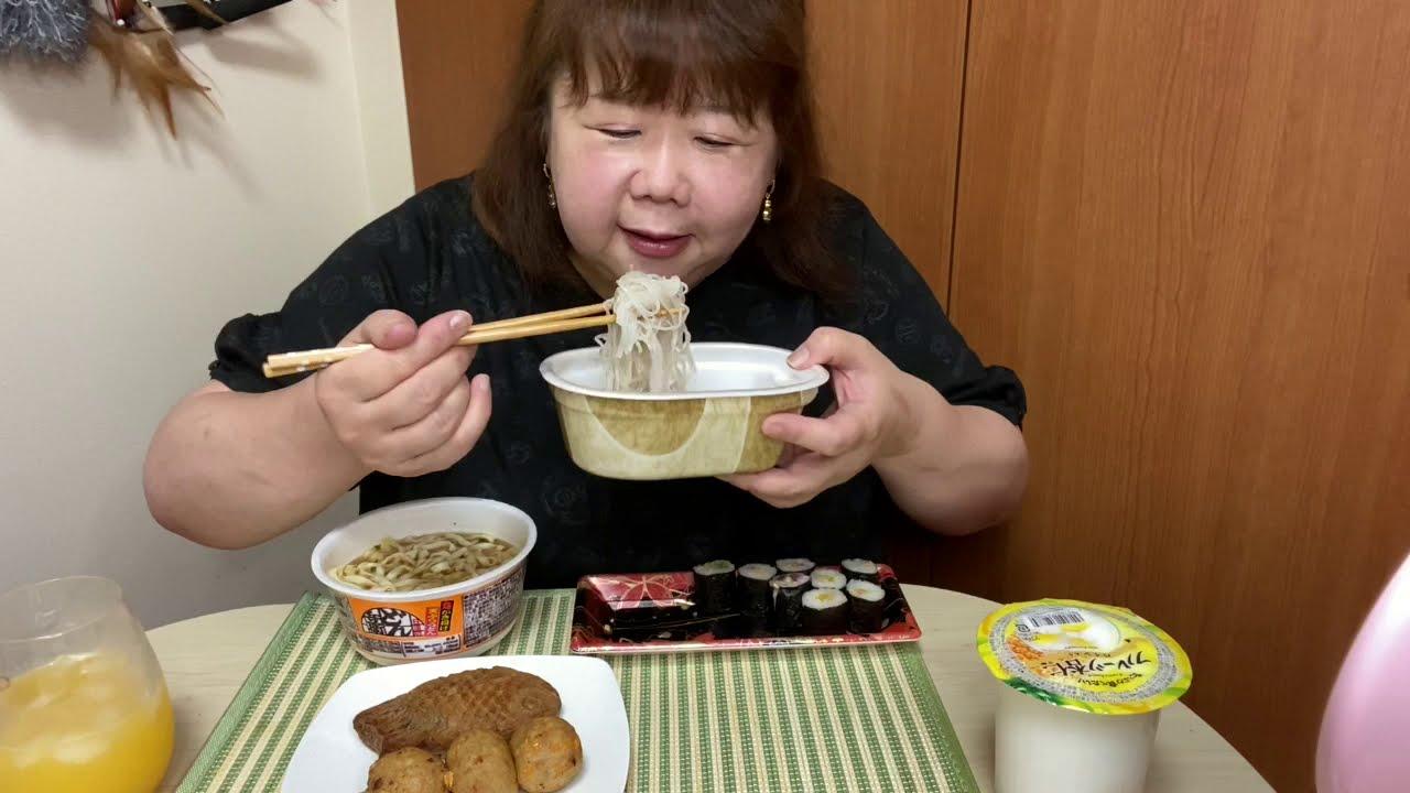 おでぶ❣️晩御飯にファミリーマートの商品を食べる‼︎😋