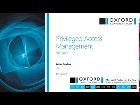 Privileged Access Management (PAM) Webinar: What You Need to Know