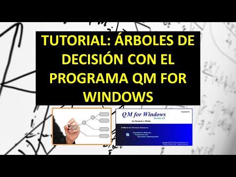 TUTORIAL PLANTEAR UN ARBOL DE DECISION EN QM FOR WINDOWS