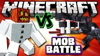 ALIEN VS MUTANT SNOW GOLEM - Minecraft Batalha de Mobs - Mutant Creatures e OreSpawn