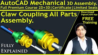 Auto CAD Mechanical | Auto CAD 3D |  [ Complete ] AutoCAD Mechanical Modeling | 3D Parts | Assembly