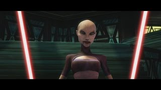 Star Wars: The Clone Wars - Anakin Skywalker & Obi Wan Kenobi vs. Ventress [1080p]