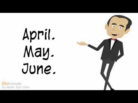 Months Of The Year تعلم أسماء الشهور في الإنجليزية مع النطق Youtube