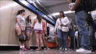 No Pants Subway Ride: Metro passengers in Mexico stage semi-naked flash mob