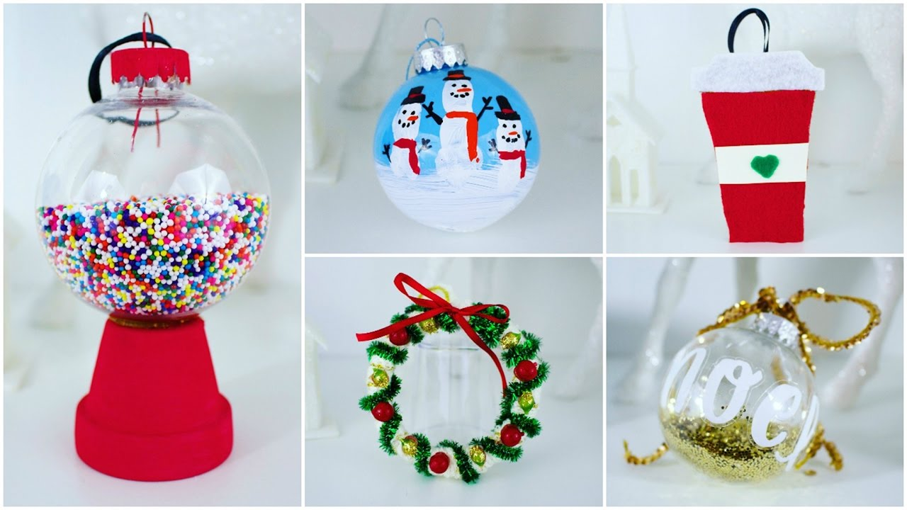 5 cheap and easy diy christmas ornaments pinterest inspired youtube - Diy Christmas Decorations Ideas