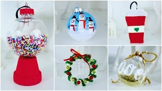 5 CHEAP AND EASY DIY CHRISTMAS ORNAMENTS | PINTEREST INSPIRED