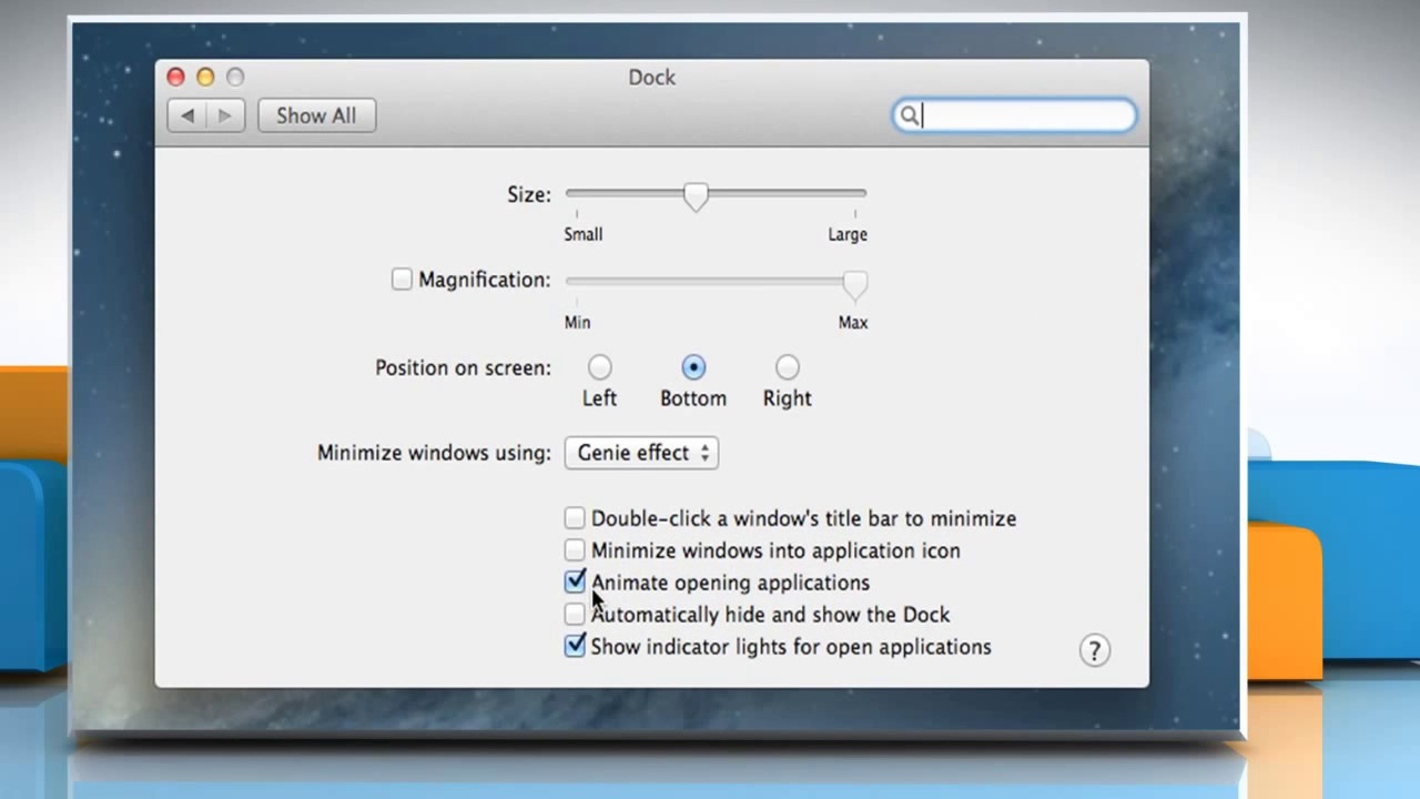 How to disable/enable the Bounce Effect of Dock Icons on Mac®
