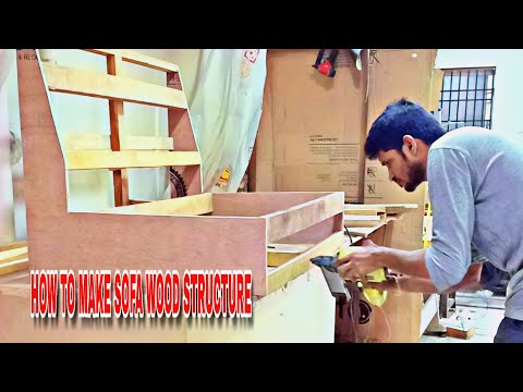 #wood #structure #sofaset sofa set frame structure making process