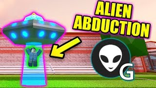 NEW UFO ABDUCTION GLITCH IN JAILBREAK?   Roblox Jailbreak Mythbusting Military Update
