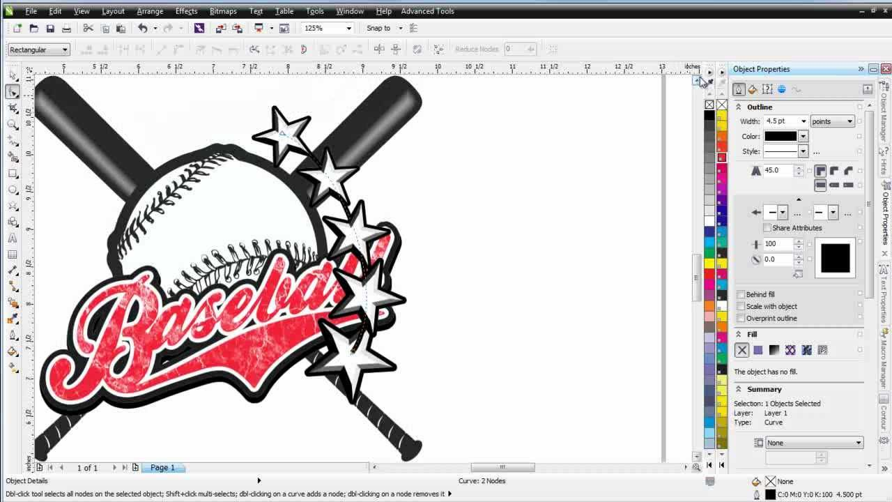 coreldraw x6 for beginners simple t shirt design youtube - Baseball T Shirt Designs Ideas