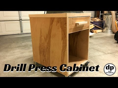 Drill Press Stand | How to Build a Mobile Drill Press Cabinet | Woodworking