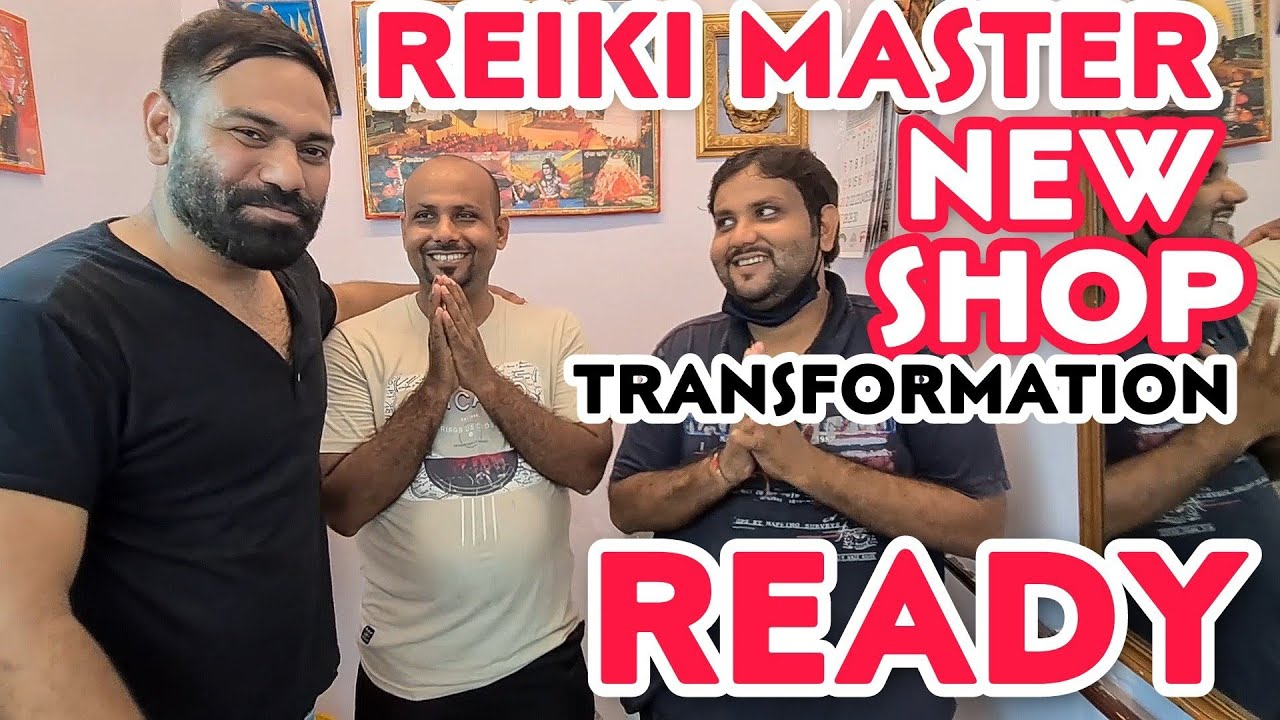 TRANSFORMATION VIDEO OF REIKI MASTER'S  RENOVATED SHOP 💈 INDIAN BARBER 💈ASMR💈 ENGLISH SUBTITLES C.C