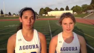 Agoura girls lacrosse players after the Chargers beat Oak Pa
