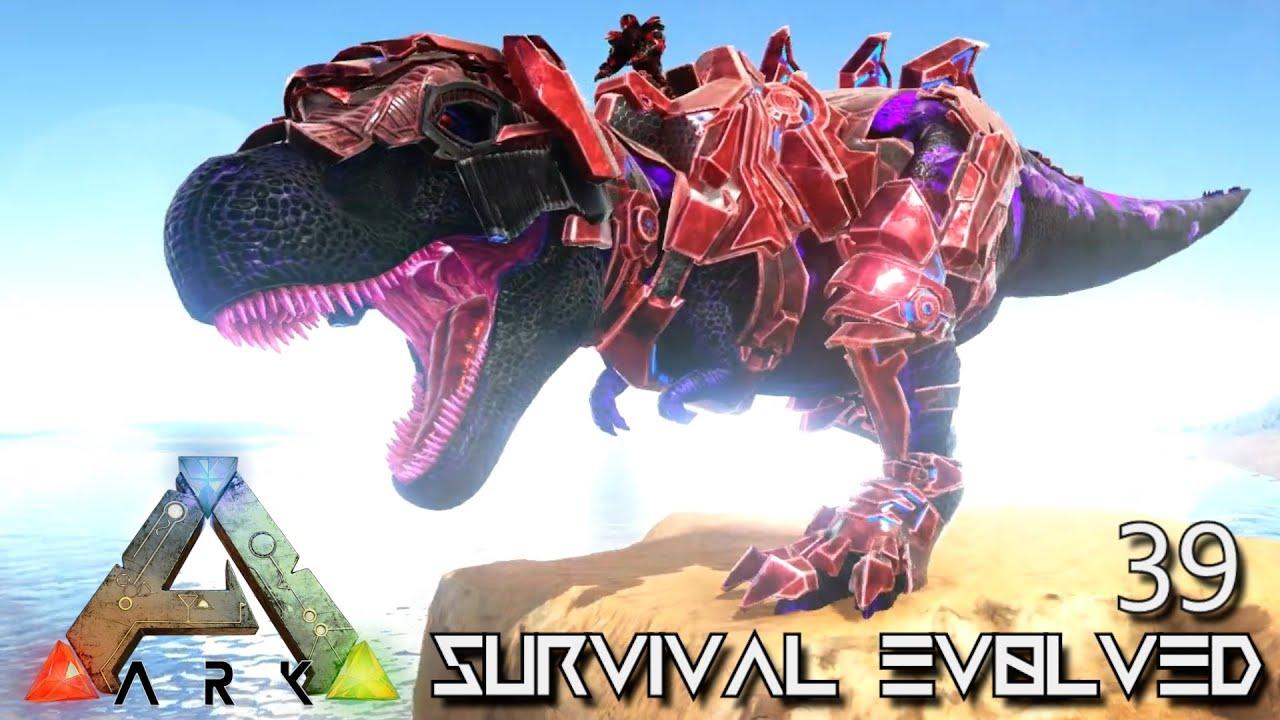 ARK: SURVIVAL EVOLVED - ROBOT & INFERNAL TEK REX !!! ETERNAL PROMETHEUS  TUNGUSKA E39