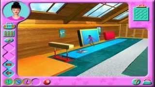 """Прохождение игры  Barbie """"Спортивная гимнастика"""" Как сделать  опорный прыжок"""