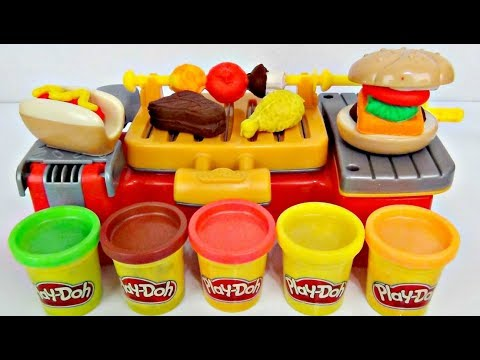 Thumbnail: Play-doh Cookout Creation, Grill Kitchen D.I.Y. Kid Craft Molder Cutter, Elsa Spiderman IRL / TUYC