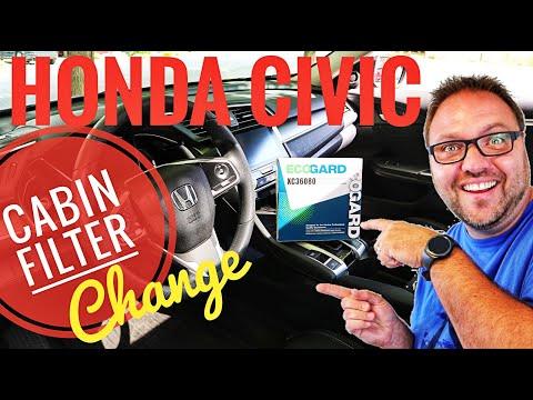 Honda Civic Cabin Air Filter Replacement - 2016 2017 2018 2019