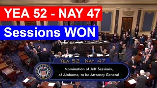 BREAKING NEWS: Jeff Sessions Confirmed as Attorney General Nomination WINS THE VOTES 52 - 47 ✔ Free HD Video