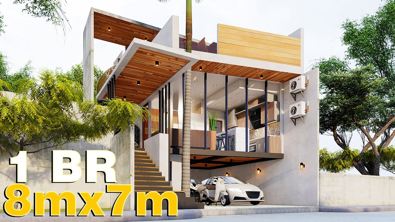 Small House Design   Tiny House  Simple House Design   8m x 7m 120sqm