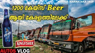 Bharat Benz trip with 1200 case kingfisher storm beer to kerala/autos vlog-epi-5