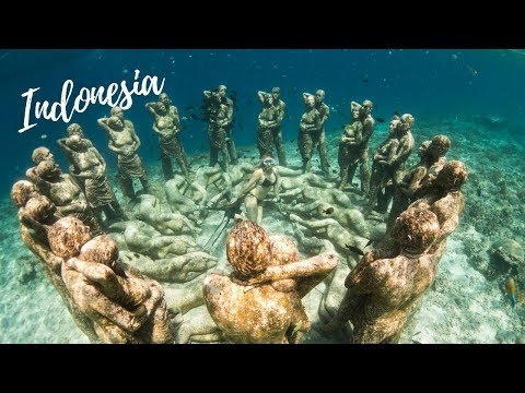 Underwater Statues at Gili Meno, Indonesia