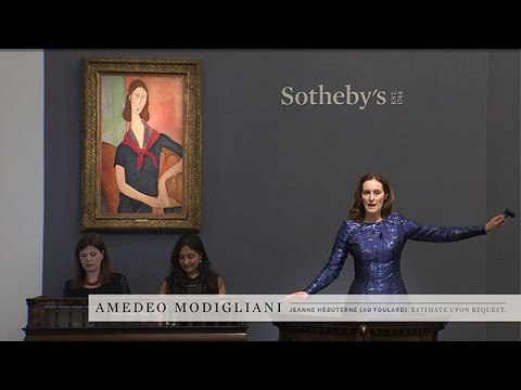 Bidding Battle for Modigliani's 'Jeanne Hebuterne (au foulard)'