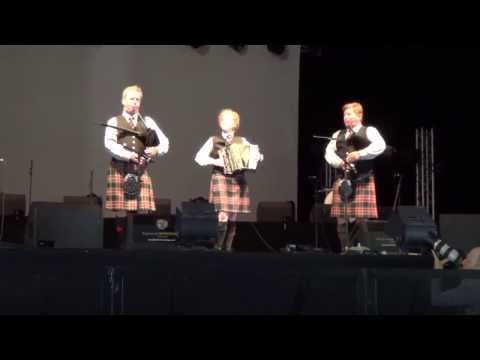 Prince Charles Pipe Band: Small Pipes and Accordion; Breton Music Set - Lorient Concert, France