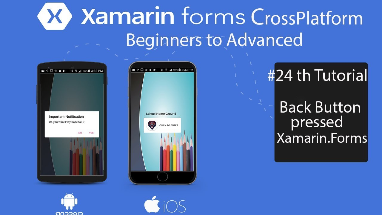 Xamarin forms Back Button Pressed Gives Alert Box To Exit [Tutorial 24]