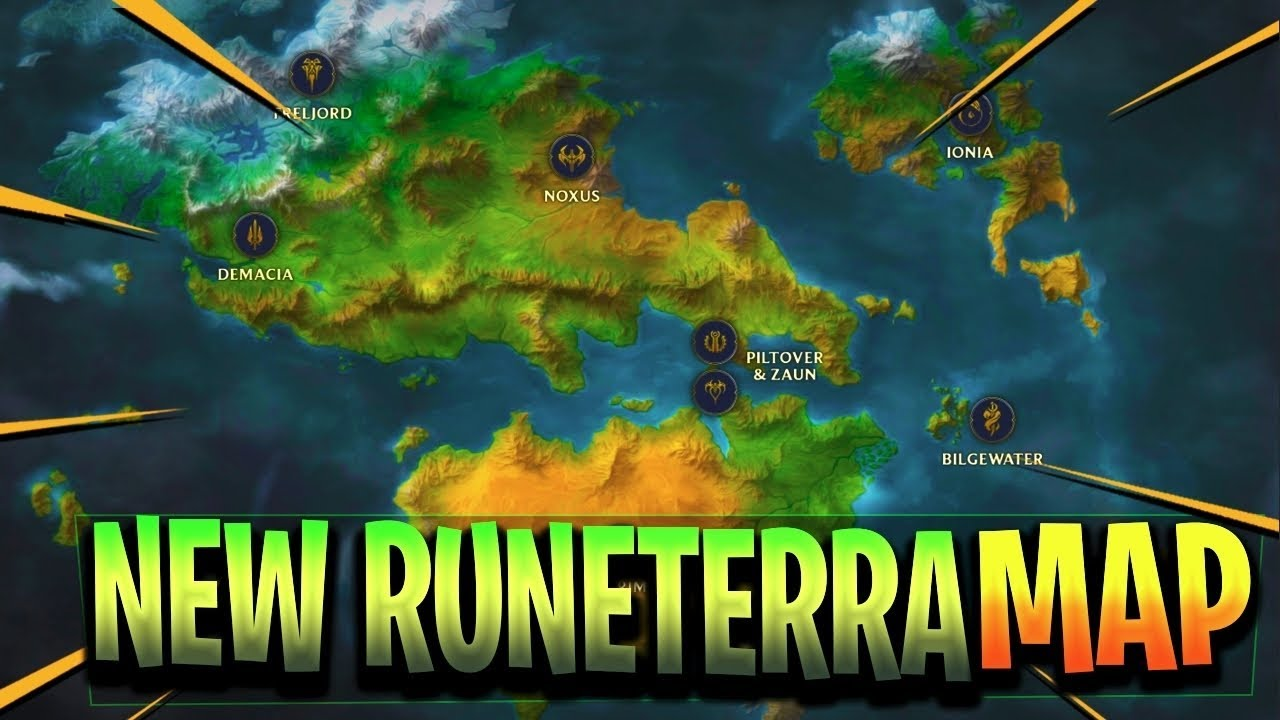New Runeterra Map Exploration All Continents Nations League Of Legends
