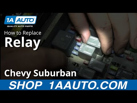 Replacing a Relay in a GM Truck SUV Silverado Sierra Suburban Tahoe Yukon Escalade