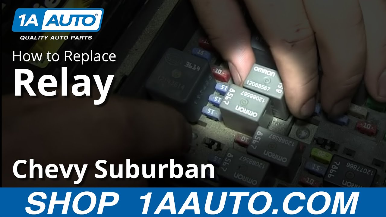 Replacing a Relay in a GM Truck SUV Silverado Sierra Suburban Tahoe Yukon Escalade - YouTube